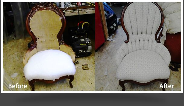 old chair before after